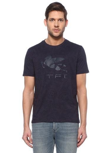 Etro Etro  Logo Baskılı T-shirt 101617972 Lacivert